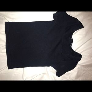 Brandy Melville Tops - Brandy Melville navy cropped square neck ribbed T